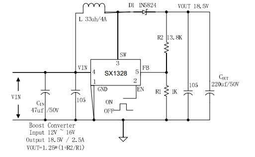 转24v直流电   效率大电流升压ic直流升压电路