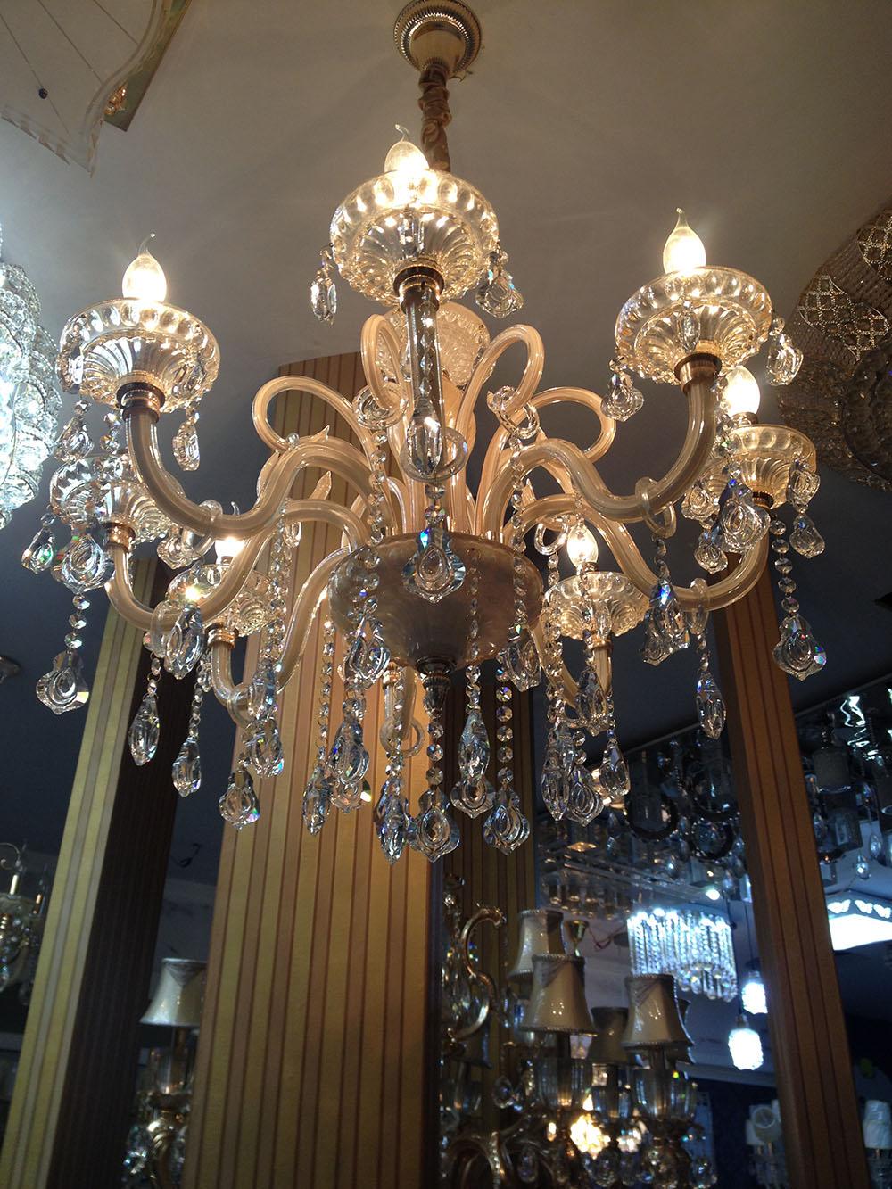 欧式奢华led水晶吊灯 欧普大客厅卧室灯艺术蜡烛水晶