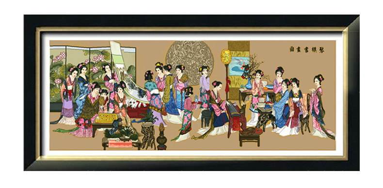 琴棋书画十二钗 红楼梦系列图片