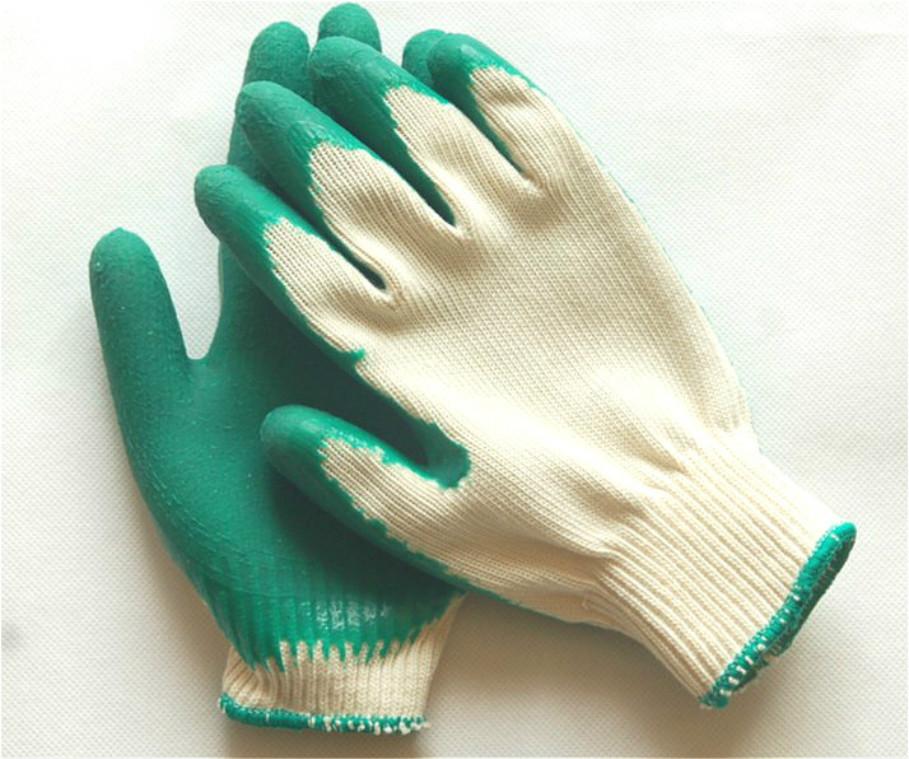 线涂胶手套JF-2型中国青岛集芳制造优点材质高价格低结实耐用