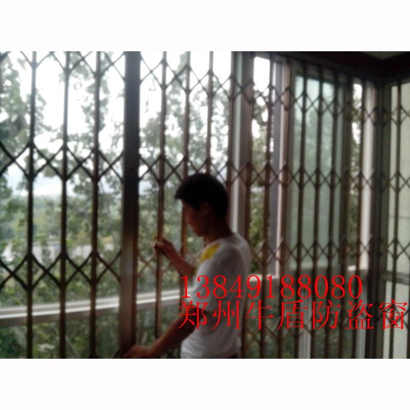 不锈钢玫瑰金推拉防盗窗21