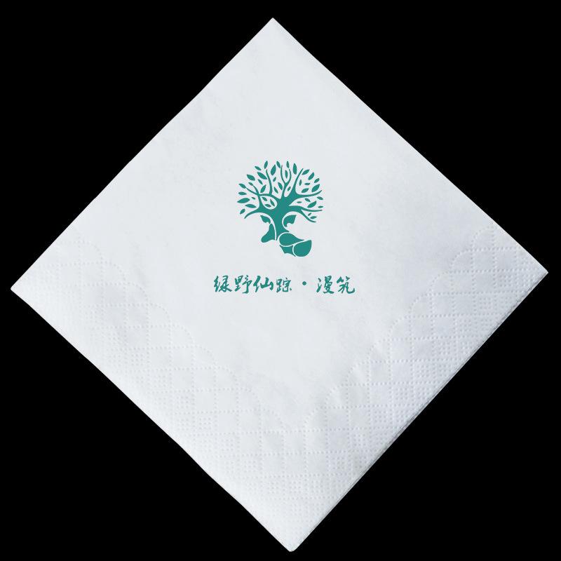 厂家直销 270餐巾纸 酒店饭店方形广告擦手纸巾方巾免费设计logo图片