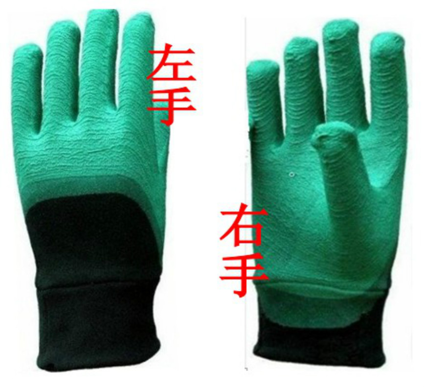 单只乳胶手套订做不分左手右手均可订做全挂胶手套或半浸胶手套款式