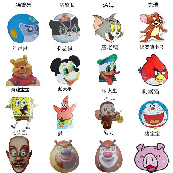 幼儿园卡通小动物戏剧游戏头饰儿童表演角色扮演道具小老鼠猫警察
