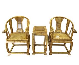 供应 精品金丝楠家具红木家具 皇宫椅 金丝楠木皇宫椅三件套