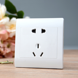 雅白开关插座面板 二三插座亏本五孔插座电源插 5孔插座正品