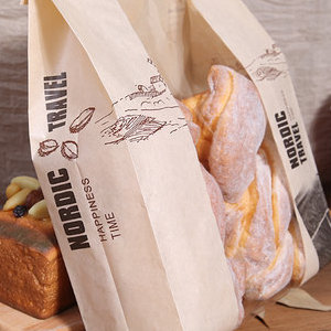 烘焙包装袋蛋糕吐司切片面包袋饼干袋透明开窗牛皮纸袋子包邮50只