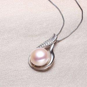 供应   北海淡水珍珠无暇吊坠11mm大气时尚珍珠吊坠批发