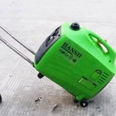 手推有轮子便携数码变频发电机5KW美观好看又耐用环保静音