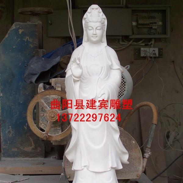 建宾雕刻供应汉白玉石雕观音