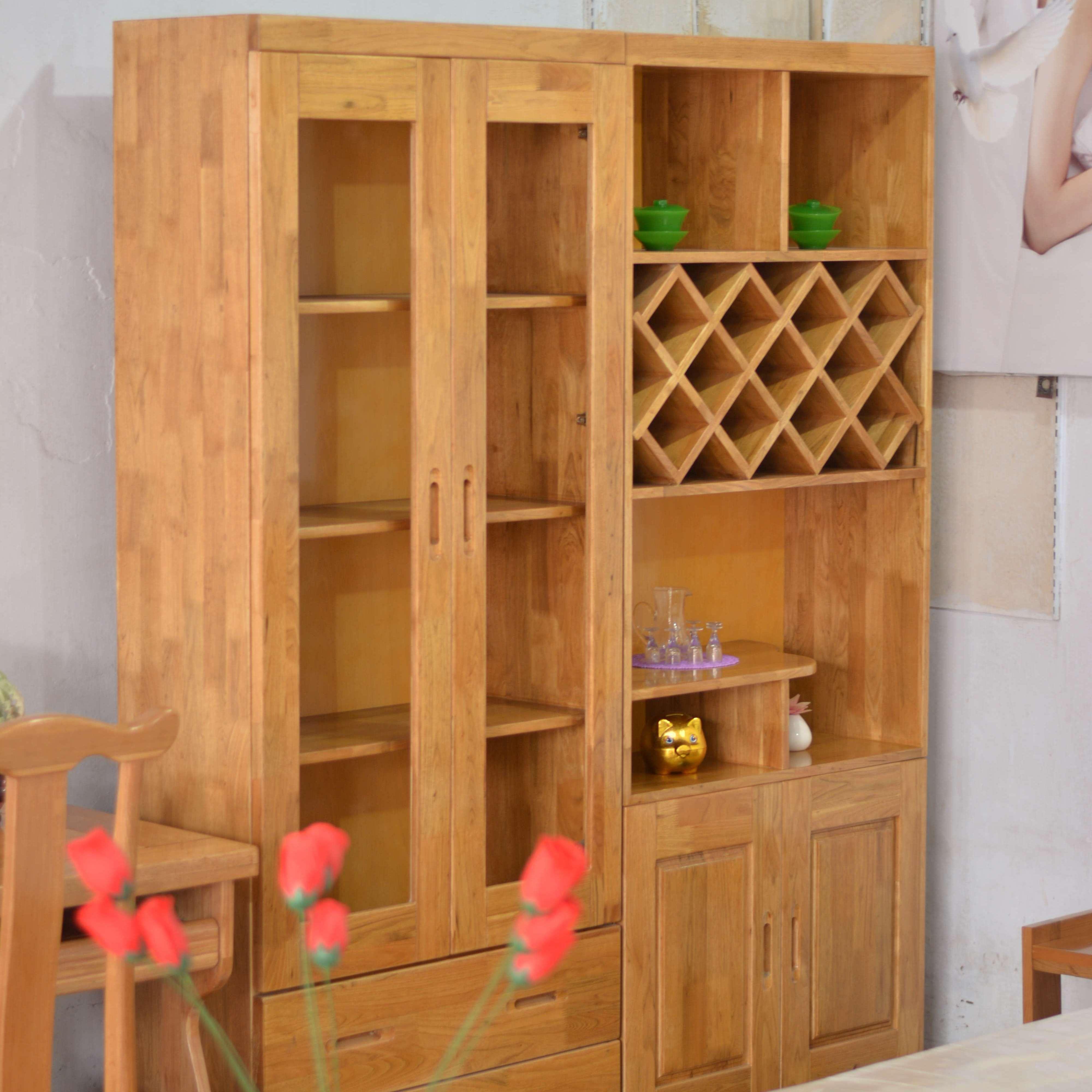 王家实木家具 纯实木家俱酒柜 环保漆  无甲醛  原始工艺  实木家具设计 定制 供应
