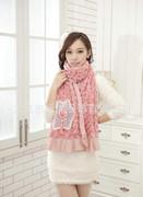 专业提供韩版围巾 时尚高档 女士仿羊绒保暖围巾