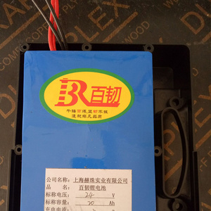 百韧 24V20AH 锂电池组 充电器