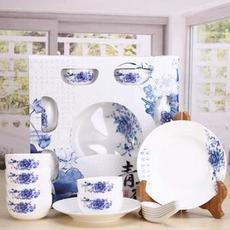 供应  结婚送礼 盘子碗青花瓷餐具