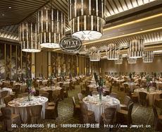 希尔顿酒店吊灯 现代中式吊灯 五星级酒店吊灯 大型酒店工程灯 酒店吊灯定制设计 酒店工程灯安装