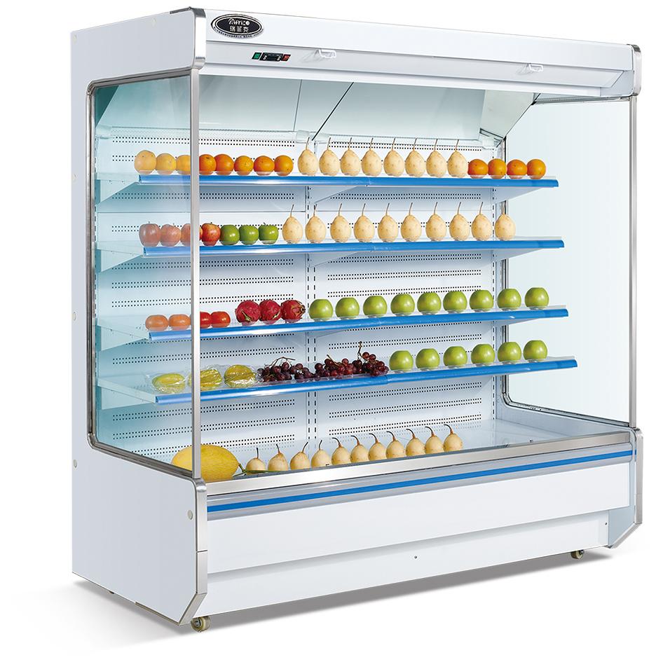厂家直销 佛山上贝 2.5米分体机水果风幕柜/便利店冰箱/饮料冰柜//蔬菜保鲜柜