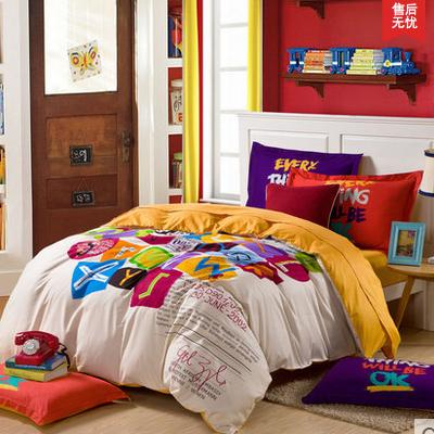 活性全棉四件套 床上用品四件套 韩式风纯棉床单床品