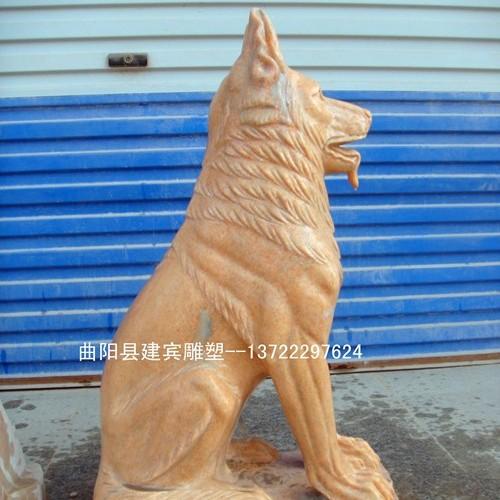 厂家供应出售石雕小狗_狗雕塑