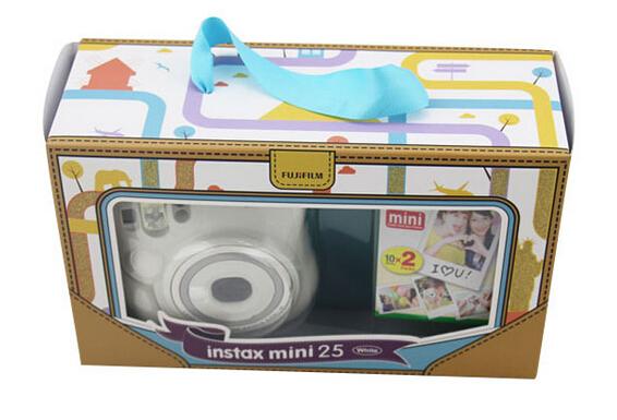 供应 富士instax mini25拍立得迷你照相机 白色 胶卷相机礼品套装