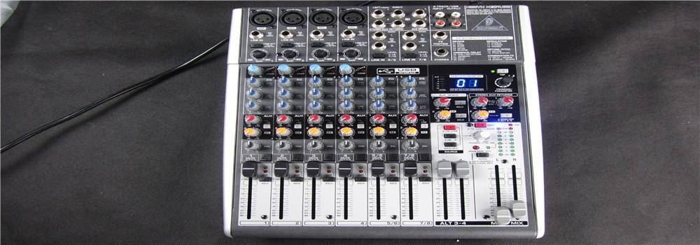 百灵达调音台X1204USB 舞台专业录音数字调音台 8路带效果器声卡
