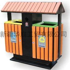 新疆垃圾桶 新疆塑木垃圾桶供应厂家 昌吉果皮箱火热畅销