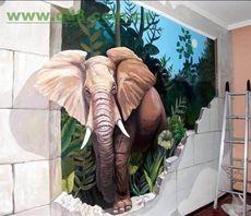 南昌手绘墙画背景墙餐厅彩绘壁画效果图!