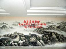 南昌手绘背景墙|墙面彩绘|南昌涂鸦供应
