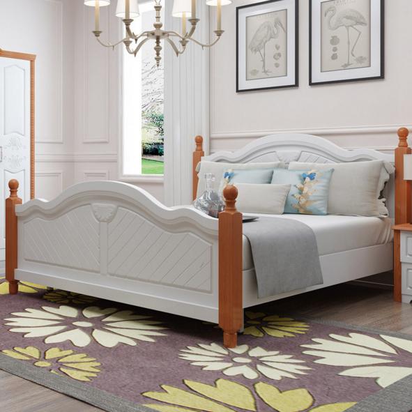 现代简约板式卧室双人床