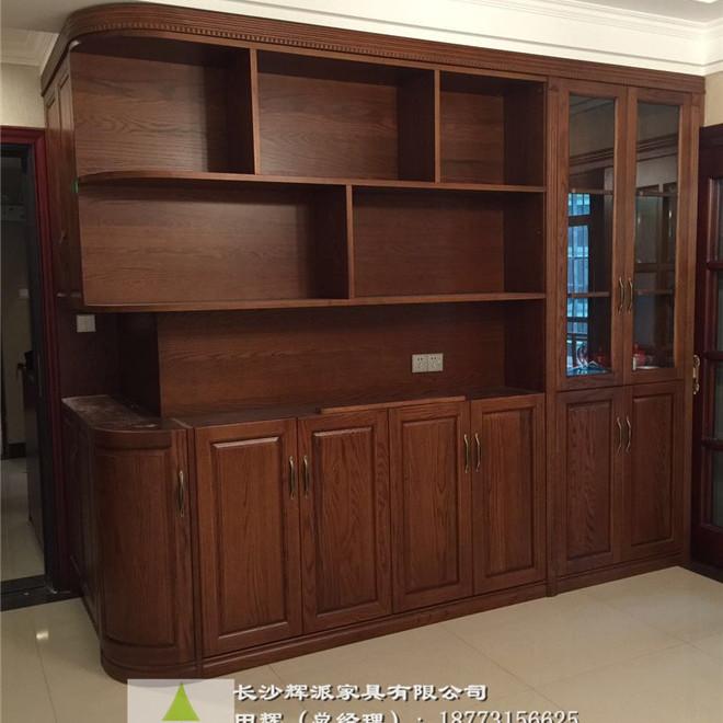 长沙全屋原木家具定制 原木餐边柜 书柜订做美式专家