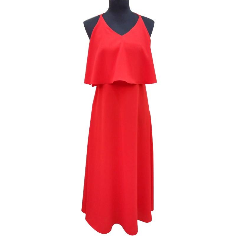红色连衣裙 长裙