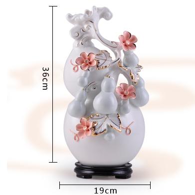 供应多子多福结婚礼物高档客厅陶瓷花瓶工艺品