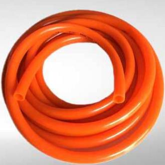 供应牛筋橘红色加厚pvc纤维软管水管