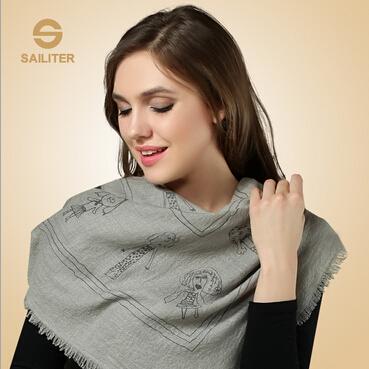厂家现货羊绒围巾英伦直销女士秋冬羊绒披肩 超大超长纯羊绒围巾