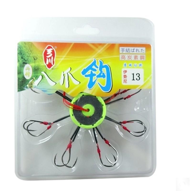 一川品质认证八爪钩进口日本伊势尼鱼钩手工研作经典老款销量上万
