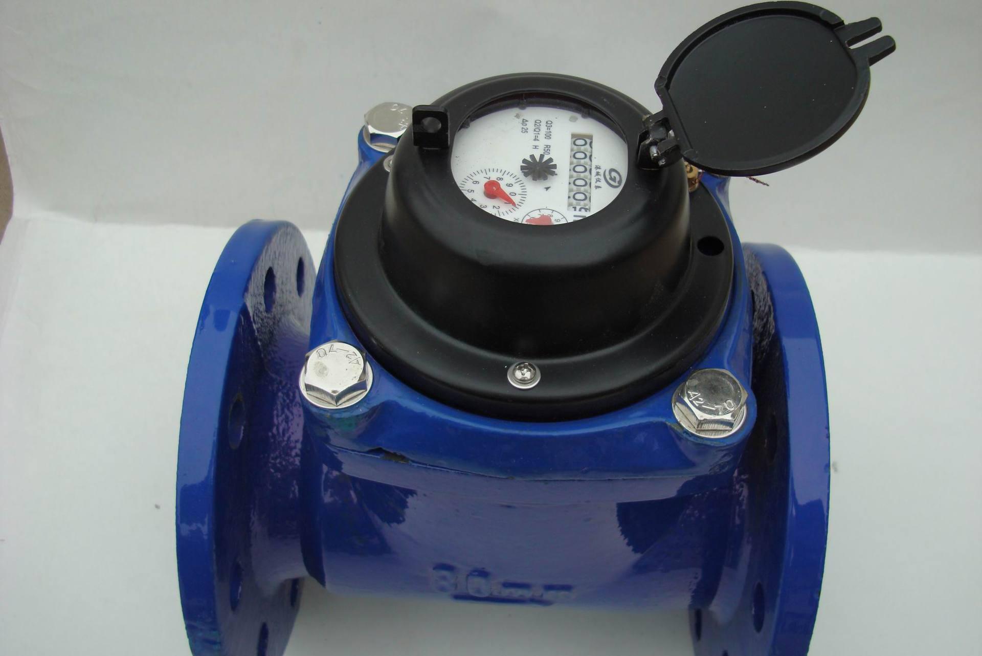 工业用法兰水表 lxlg-80水平螺翼式水表 可拆卸干式水表 3寸图片