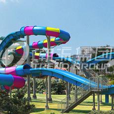 广州潮流水上乐园设备厂家专业生产水上飞龙滑梯