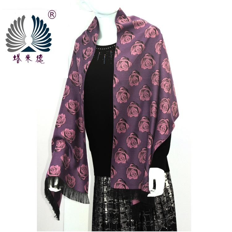 【价格优】秋冬情侣保暖围巾披肩 正品商务休闲真丝拉绒围巾披肩