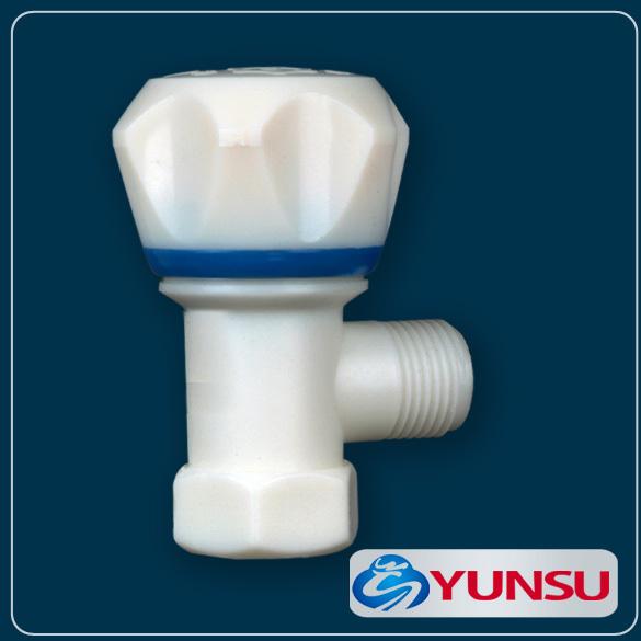 塑料PP隔膜内外牙塑料角阀厂家直销