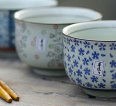 供应全网销量第一!日式沼津蓝花陶瓷碗、碟、盘餐具 现代简约