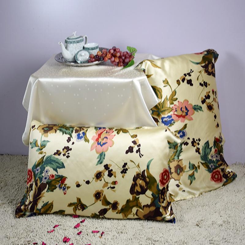 【米已成炊】依格尔 真丝枕巾枕套 100%桑蚕丝绸系带单面单只枕头套 四季单人枕芯套50×76cm