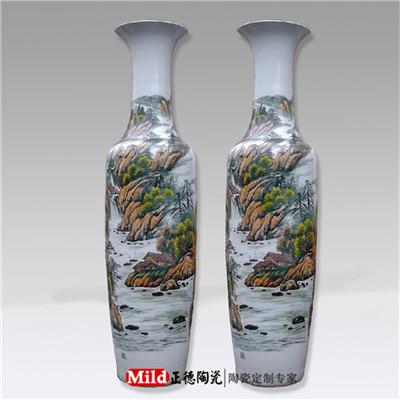 景德镇商务礼品陶瓷大花瓶 乔迁礼品陶瓷花瓶