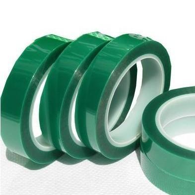 PET绿色高温胶带 义耐高温遮蔽胶带 电镀胶带 喷涂烤漆胶带 不残胶