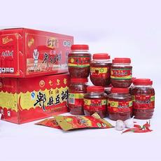 四川特产 七里香红油豆瓣酱 郫县红油豆瓣酱1100g*8瓶一箱