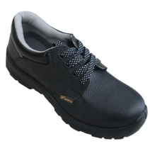 供应SF718黑色真皮防砸劳保鞋有大量现货