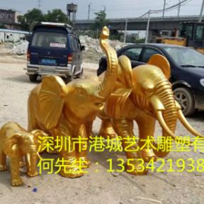 深圳仿真大象玻璃钢雕塑 玻璃钢动物雕塑厂家