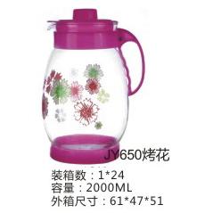 供应 厂家直销 佳颖 JY650 2000ML 彩色烤花 定制 水壶