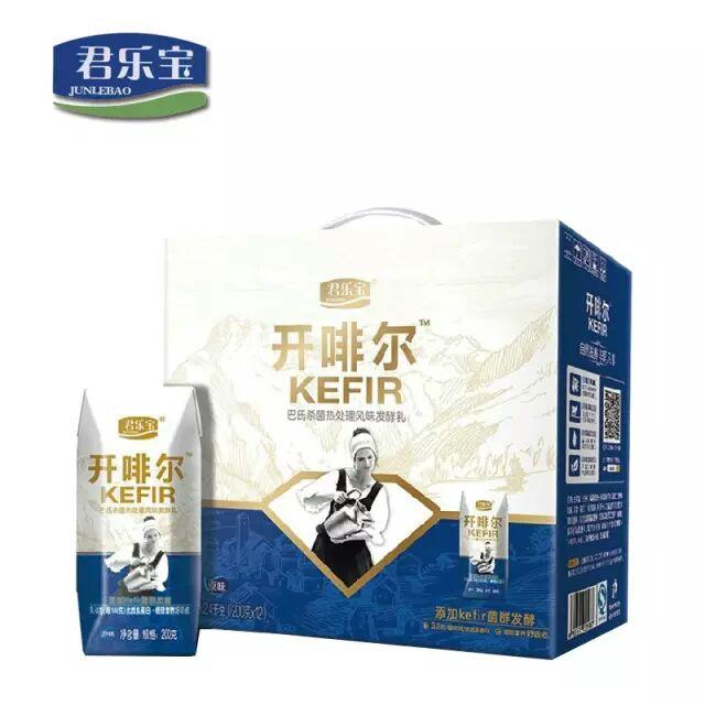 君乐宝开啡尔酸奶常温酸奶200gx12盒