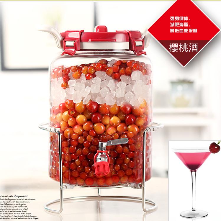 无铅玻璃瓶质感十足 经久耐用水果酵素瓶泡酒瓶泡菜坛子储物罐
