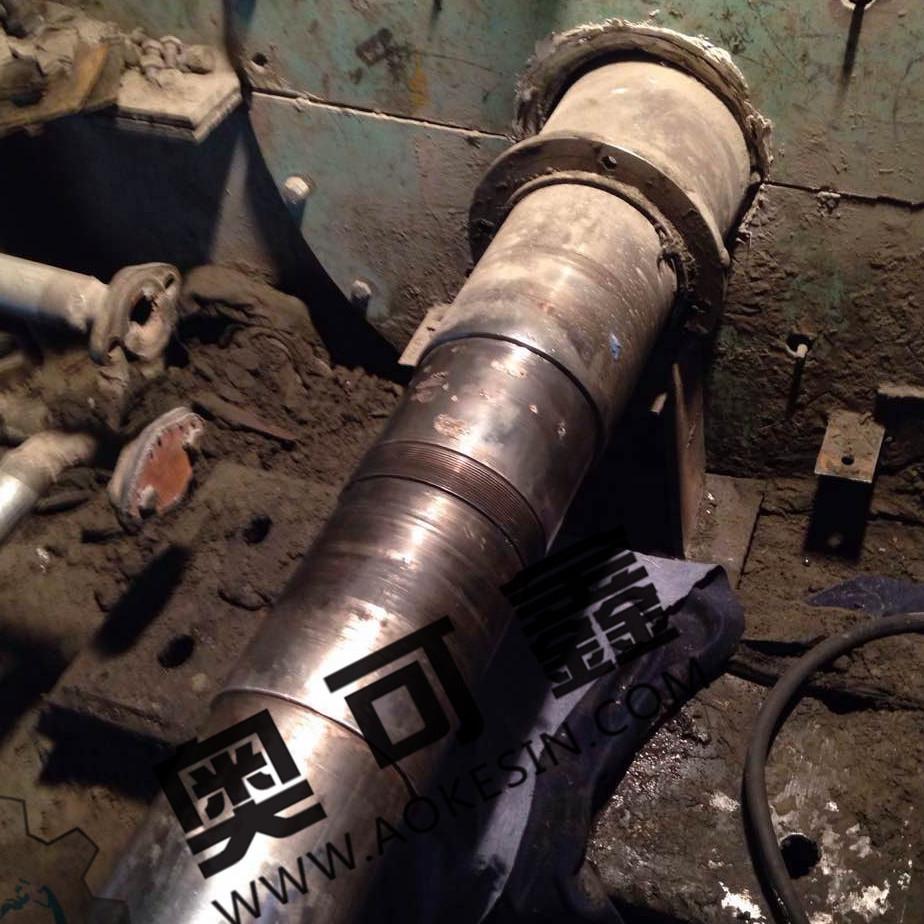 风机轴轴承位磨损修复