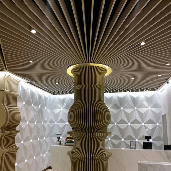 木纹弧形铝方通 贵阳乐斯尔品牌木纹铝方通